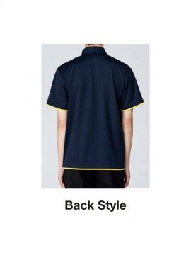 WE-00315-AYB 4.4oz ドライレイヤードボタンダウンポロシャツ バックスタイル