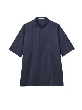 BM-FB4550U 8ネイビー ユニセックス ニットコックシャツ