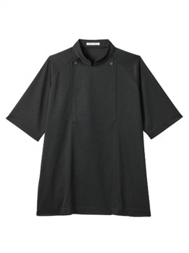 BM-FB4550U ユニセックスニットコックシャツ 拡大画像 ブラック