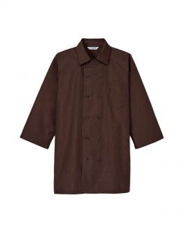 ARB-AS8321 コックシャツ(男女兼用・七分袖) ユニセックス・ブラウン
