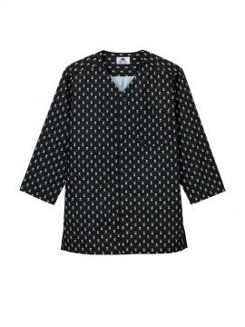 ARB-AS8317 ダボシャツ(男女兼用・七分袖) 拡大画像・スカル