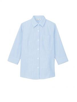 ARB-BL8370 ブラウス(レディス・七分袖) ブルー