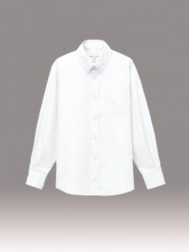 ARB-EP8357 ボタンダウンシャツ(男女兼用・長袖) 拡大画像1