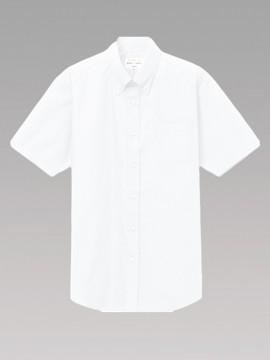 ARB-EP8359 ボタンダウンシャツ(男女兼用・半袖) トップス ホワイト 白