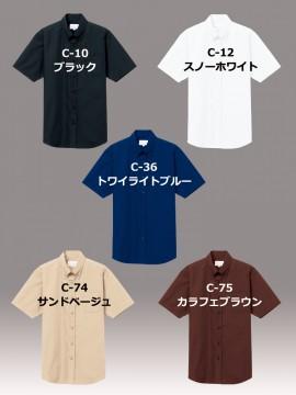ARB-EP8359 ボタンダウンシャツ(男女兼用・半袖) トップス カラー一覧