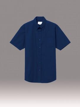 ARB-EP8359 ボタンダウンシャツ(男女兼用・半袖) トップス ネイビー
