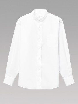 ARB-EP8360 スタンドカラーシャツ(男女兼用・長袖) 拡大画像2