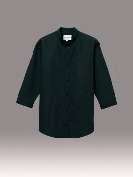 ARB-EP8361 スタンドカラーシャツ(男女兼用・七分袖) 拡大画像1