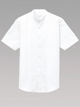 ARB-EP8362 スタンドカラーシャツ(男女兼用・半袖) 拡大画像2