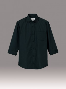 ARB-EP8364 ワイドカラーシャツ(男女兼用・七分袖) 拡大画像1