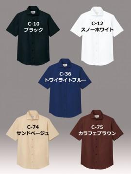 ARB-EP8365 ワイドカラーシャツ(男女兼用・半袖) カラー一覧