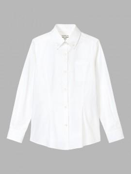 ARB-KM8374 ボタンダウンシャツ(レディース・長袖) 拡大画像