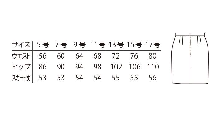 ARB-KM8385 スカート サイズ表