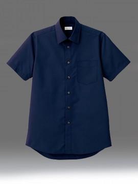BM-FB5041M メンズレギュラーカラー半袖シャツ 拡大画像 ネイビー