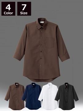 BM-FB5042M メンズレギュラーカラー七分袖シャツ