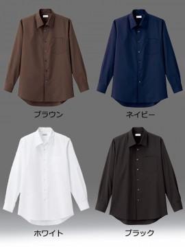 BM-FB5043M メンズ開襟長袖シャツ カラー一覧