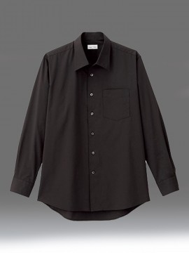 BM-FB5043M メンズ開襟長袖シャツ 拡大画像 ブラック