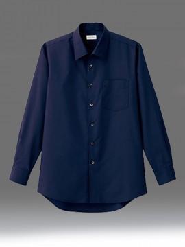 BM-FB5043M メンズ開襟長袖シャツ 拡大画像 ネイビー