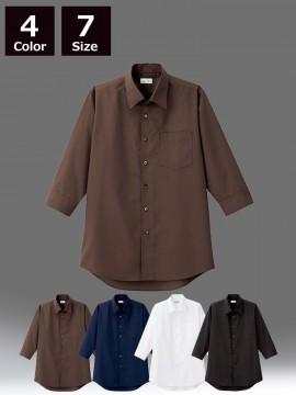 BM-FB5044M メンズ開襟七分袖シャツ