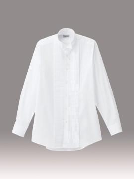BM-FB5045M メンズピンタックウイングシャツ 拡大画像 ホワイト