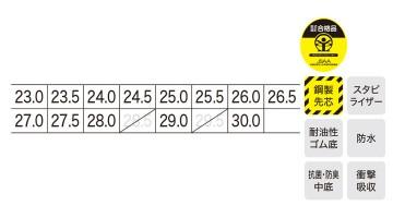 XB85143 プロスニーカー サイズ表
