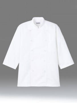 BM-FB4552U ユニセックス コックシャツ ホワイト