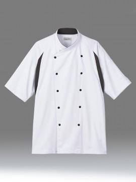 BM-FB4553U ユニセックス コックシャツ 拡大画像