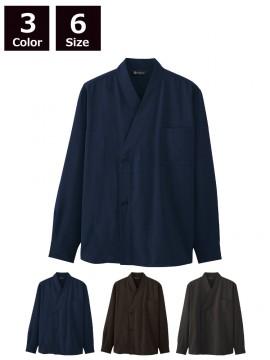 ARB-DN8502 和風シャツ(長袖/男女兼用) モデル着用画像