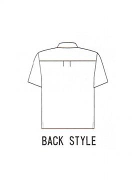 OD-00573 半袖ポロシャツ 後ろ