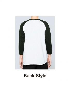 WE-00107-CRB 5.6オンス ヘビーウェイトベースボールTシャツ バックスタイル