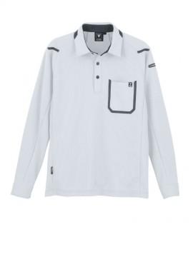 XB6195 長袖ポロシャツ 拡大図