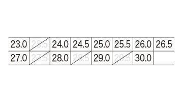 85208 プロスニーカー サイズ表