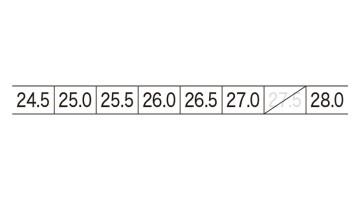 XB85408 セフティシューズ サイズ表