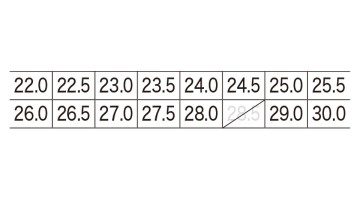 85410 プロスニーカー サイズ表