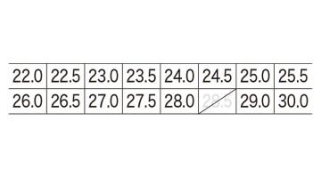 XB85411 プロスニーカー サイズ表