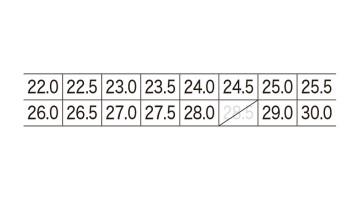 85111S 入替静電インソール サイズ表