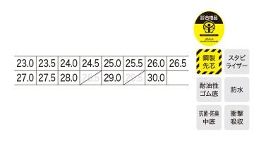 85145 プロスニーカー サイズ表