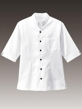 BS-34310 スタンドカラーシャツ 拡大画像