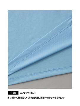 OD00010 エアレット半袖Tシャツ 生地拡大図