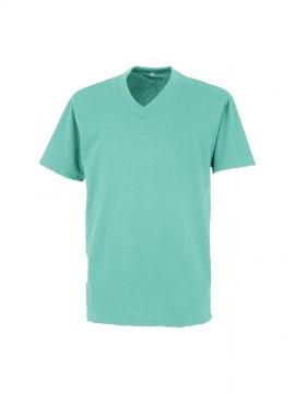 OD00020 エアレットVネック半袖Tシャツ 拡大画像