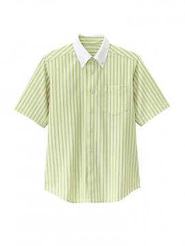 BS-23310 ボタンダウンシャツ 拡大画像 グリーン×ベージュ