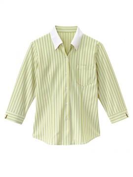 BS-24241 ベルカラーシャツ グリーン×ベージュ