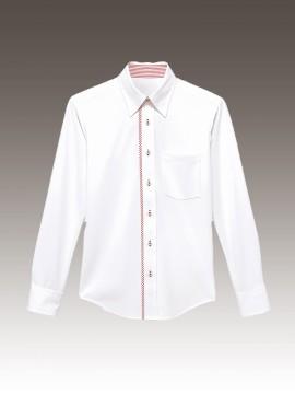 ニットシャツ(衿裏釦付)