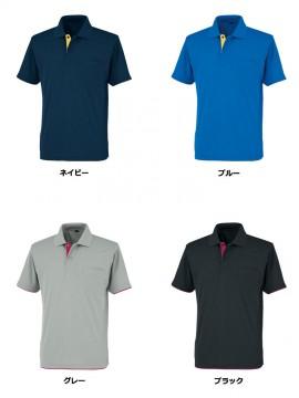 OD-06018 吸汗速乾 レイヤード半袖ポロシャツ カラー一覧