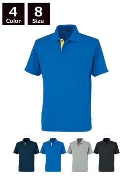 OD-06018 吸汗速乾 レイヤード半袖ポロシャツ