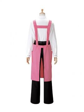 BS-27326 胸当てエプロン ピンク バックスタイル