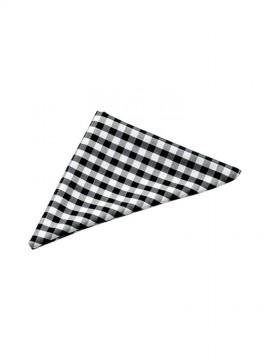 BS-04007 三角チーフ(男女兼用) 黒×白