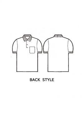 JC-17 抗菌防臭半袖ポロシャツ バックスタイル