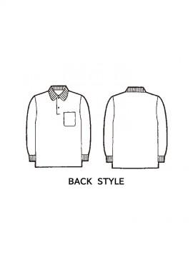 JC-18 抗菌防臭長袖ポロシャツ バックスタイル