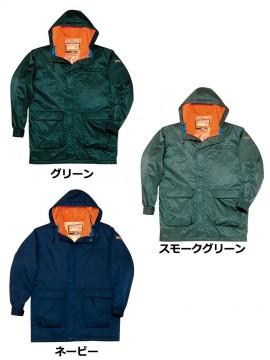 JC-48013 ダブルライナー防寒コート(フード付) カラー一覧